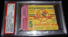 1956 WORLD SERIES GAME 5 TICKET YANKEES MANTLE HR #8 LARSEN PERFECT GAME PSA 3