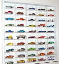 Model Car Display 1:64 & 1:72 Scale Hotwheels,Matchbox, Biante, Tomica (WHITE )