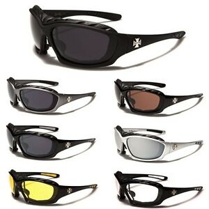 Oversized Large Choppers Motorcycle Riding Sunglasses Big Padded Biker Goggles