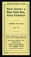 [17472] 1967 NEW JERSEY & NEW YORK RAILROAD TIMETABLE