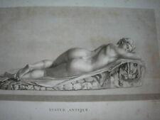 Antique Vintage Print Engraved Statue Antique Jean Baptiste Wicar 1789-1807