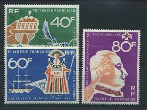 "Polynesia Stamp post Aerienne 22/24 "" Discovery Tahiti 3 Stamps "" New Xx Luxury"