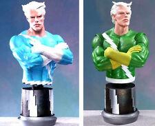 Quicksilver Blue & Green Bust Statue Set of 2 Bowen Marvel Comics Amricons