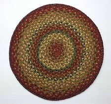 "Homespice Decor GRACELAND Braided Jute 15"" Round Placemat, Trivet"
