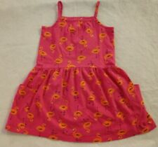 NWT Hanna Andersson Flamingo Pocket Sundress Girls Sleeveless Dress