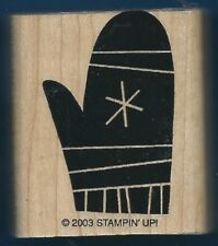 MITTEN SNOW Flake WINTER Wear Stampin' Up! Wood Mount Craft Hobby Rubber Stamp