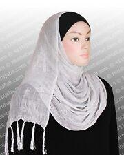 Muslim Wedding white Scarf Shawl  Amira Hijab # 11 White Ships From USA
