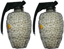 2 TUBS OF 1500 WHITE PLASTIC BB GUN PELLETS / BULLETS - 6MM 0.12G - 3000 PELLETS