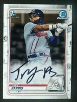 2020 Bowman Chrome 1st Auto Trey Harris Atlanta Braves