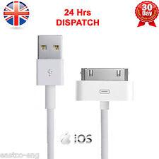 100% autentico di Apple iPhone 4 4S 3G 3GS iPod & iPad 2 & 1 Caricabatterie USB Cavo Di Piombo