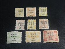 CHINA 1897 Sc#47-55 Dowager Tsz'e Hsi Surch Complete Set Mint Hinged