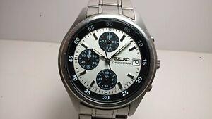 Rare Seiko V657-7100 SKS201 Panda Dial Quartz 1/20 Second Chronograph; Bracelet