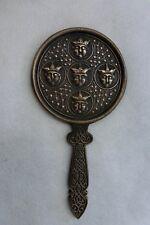 Solid Bronze Celtic Design Mirror - Original Antique