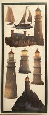 BEACONS OF LIGHT THOMAS KINKADE THEMED STICKERS 5X12 IN. SHEET LIGHTHOUSES