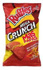 RUFFLES MEGA CRUNCH SALSA ROJA MEXICAN chips Sabritas 1, 2, 3 BAGS (55 G)
