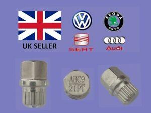 Audi Vw Seat Skoda Locking Wheel Nut Key  ABC 9 Type 21 Splines