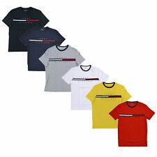 Tommy Hilfiger Para Hombre Camiseta Grande Logotipo Mangas Cortas Gráfico Camiseta Bandera De Cuello Redondo Nueva