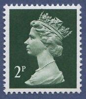 GB QEII Machin Definitive Stamp. SG X927 2p Deep-Green PP MNH