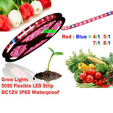 5M SMD 5050 LED Grow Light Strip Lamp Red Blue For Indoor Plants Flower Plant