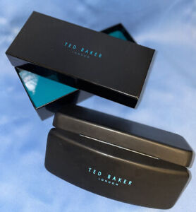 Ted Baker Black & Turquoise Blue Sunglasses Glasses Hard Case With Box