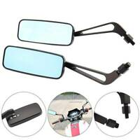Pair Motorbike Motorcycle  8/10mm Wing Side Mirrors Anti Glare Rearview