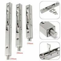 304 Stainless Security Gate Door Guard Lever Action Flush Latch Slide Bolt