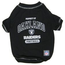 Oakland Raiders Officially Licensed NFL Dog Pet Tee Shirt, Black XS-XL