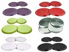 4 PC STAINLESS STEEL COLOURED HOB COVER/PROTECTOR METAL RING ELECTRIC COOKER