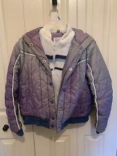 Nelsok Hall Vintage 70s Purple Long Sleeve Hooded Ski Jacket Size Medium