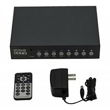 Installer CCTV 4CH Video Color Quad Multiplexer with Loopout, Remote Control an