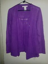 Requirements Purple Long Sleeve Twin Look Sweater Size Small  S/M