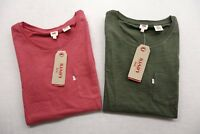 New Levi's Womens #19364 Coral Or Green Short Sleeve Scoop Neck Shirt Sz XS S M