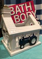 Bath & Body Works 2019 BARN Holiday House TRACTOR Luminary 3 Wick CANDLE HOLDER