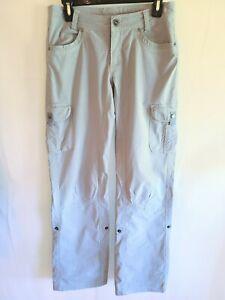 KUHL Womens 4 Regular Hiking Cargo Pants Roll Up Beige