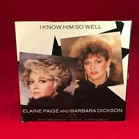 "ELAINE PAIGE & BARBARA DICKSON I Know Him So Well 1984 UK 7"" vinyl Single EXCE C"