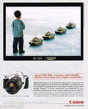 PUBLICITE ADVERTISING 065  2000  CANON EOS 300    appareil photo