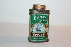 The Steamship Brand Spices Salt Tin, Stewart & Young, Glasgow