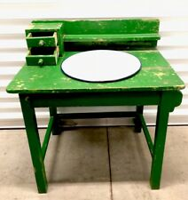 Vintage European Wash Basin Table Stand W Drawers & Towel Rack