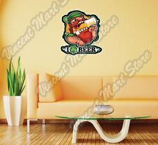 "I Love Beer Irish Leprechaun St. Patric Wall Sticker Room Interior Decor 22""X22"""