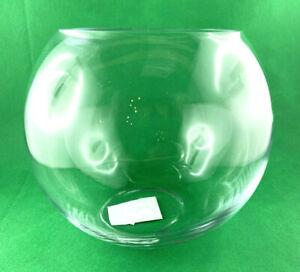 Spherical Vase Glass Lantern Tealight Holder Clear Ball H15cm D18cm Thick-Walled