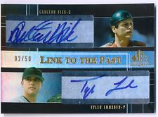 2004 SP Prospects CARLTON FISK TYLER LUMSDEN RC Link to the Past Dual Auto #/50