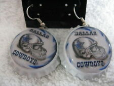 "1"" Bottle Cap Image Earrings ~ Handcrafted ~ **Gift Idea ~ Cowboys"