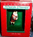 Jolly Saint Nick`1988`Miniature-A Holiday Tradition Hallmark Christmas Ornament