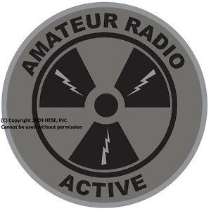 """4"""" PATCH """"Amateur Radio Active"""" (c) 2009 Subdued Version Emblem"""