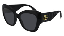 Neues AngebotGucci Sonnenbrille GG0808S  001 Schwarz - Grau - Frau