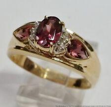 Garnet Diamond Ladies Fashion Ring New ListingVintage 14k Yellow Gold Rhodolite