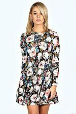 Boohoo Long Sleeve Floral Dresses for Women