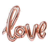 ROSE GOLD LOVE HEART FOIL BALLOON ENGAGEMENT WEDDING BIRTHDAY PARTY 108CM X 65CM