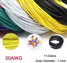 30AWG Flaxible Stranded Electronic Wire UL1007 PVC Cable O.D 1.1mm 11-Colors