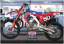 TROY LEE DESIGNS HONDA CRF250 SUPERCROSS RACE BIKE GIANT POSTER lucas oil moto-x